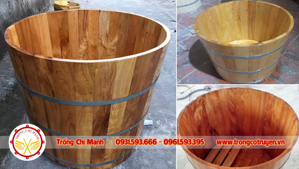 Bồn tắm gỗ thuốc Pơmu cao cấp   Trống Chí Mạnh