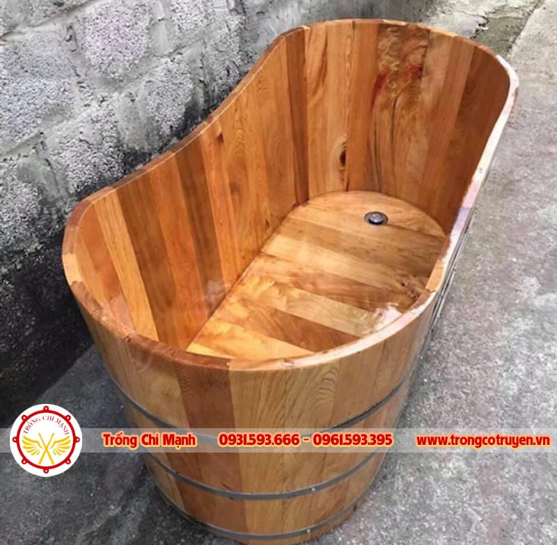 Trống Cổ Truyền Chí Mạnh | Bồn Tắm Gỗ thông cao cấp BTG07