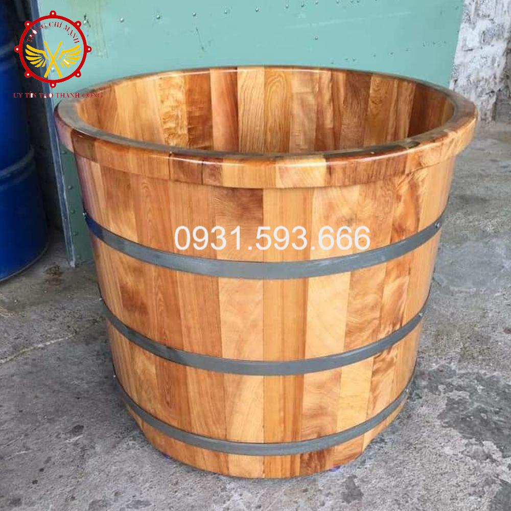 Bồn tắm gỗ tròn cao cấp | Trống Cổ Truyền