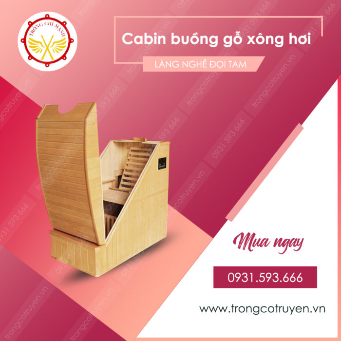Cabin buồng gỗ xông hơi mini BTG01
