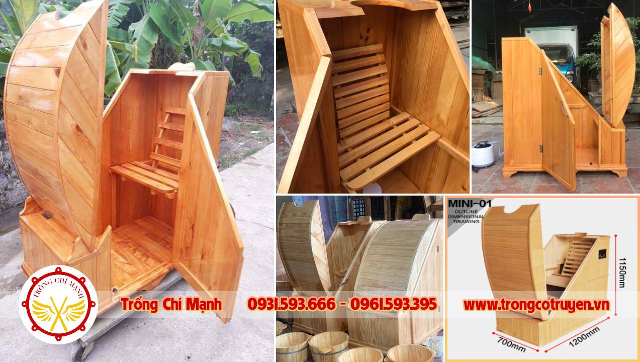 Cabin buồng gỗ xông hơi mini BTG01 | Trống Cổ Truyền Chí Mạnh