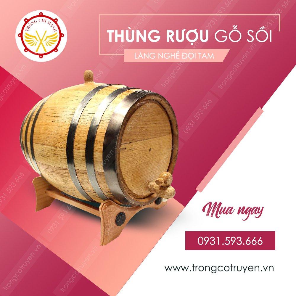 thùng rượu gỗ sồi Chí Mạnh