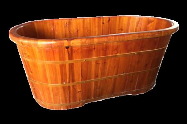Bồn tắm gỗ nằm