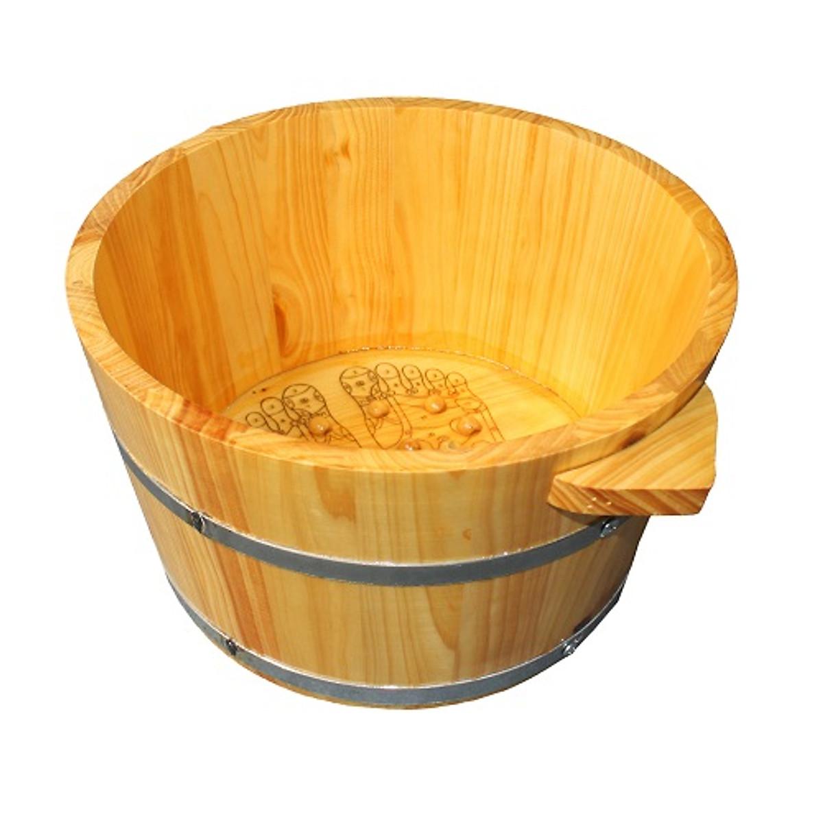 Chậu ngâm chân bằng gỗ thông
