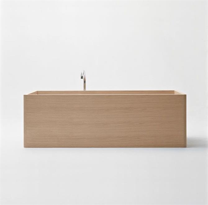 bồn tắm gỗ hình chữ nhật