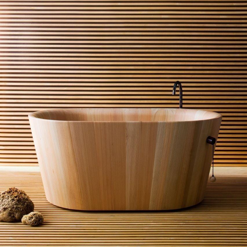 Bồn tắm gỗ cao cấp dành cho không gian nhỏ