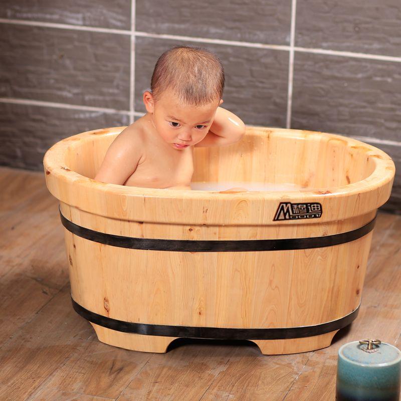 Bồn tắm gỗ cho bé