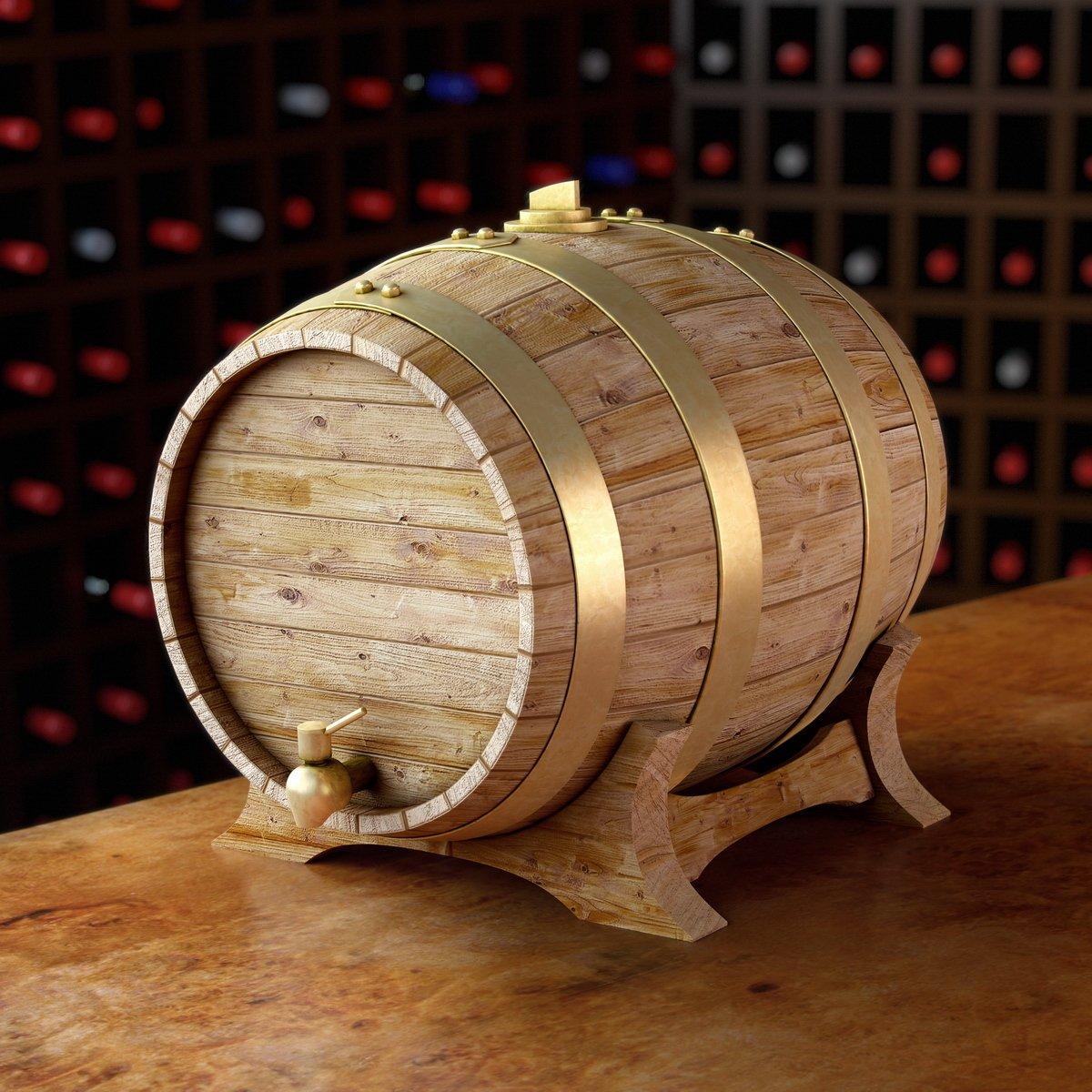 Thùng gỗ sồi ngâm rượu vòng mạ đồng