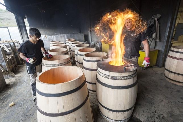 kỹ thuật đốt nướng thùng gỗ sồi