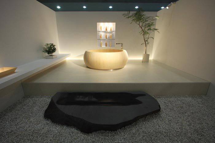 Bồn tắm gỗ tròn kiểu Nhật