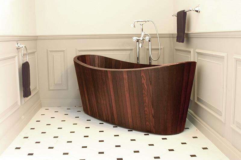 Bồn tắm gỗ oval
