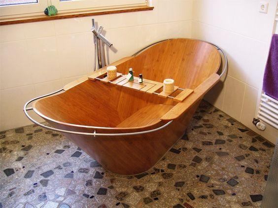 Bồn tắm gỗ cho 2 người