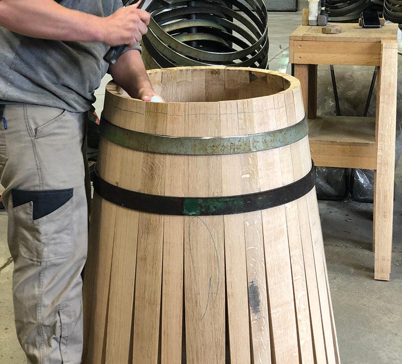 cách làm thùng rượu gỗ sồi