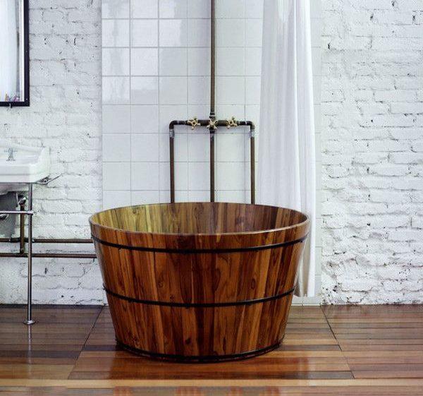 Bồn tắm bằng gỗ đẹp
