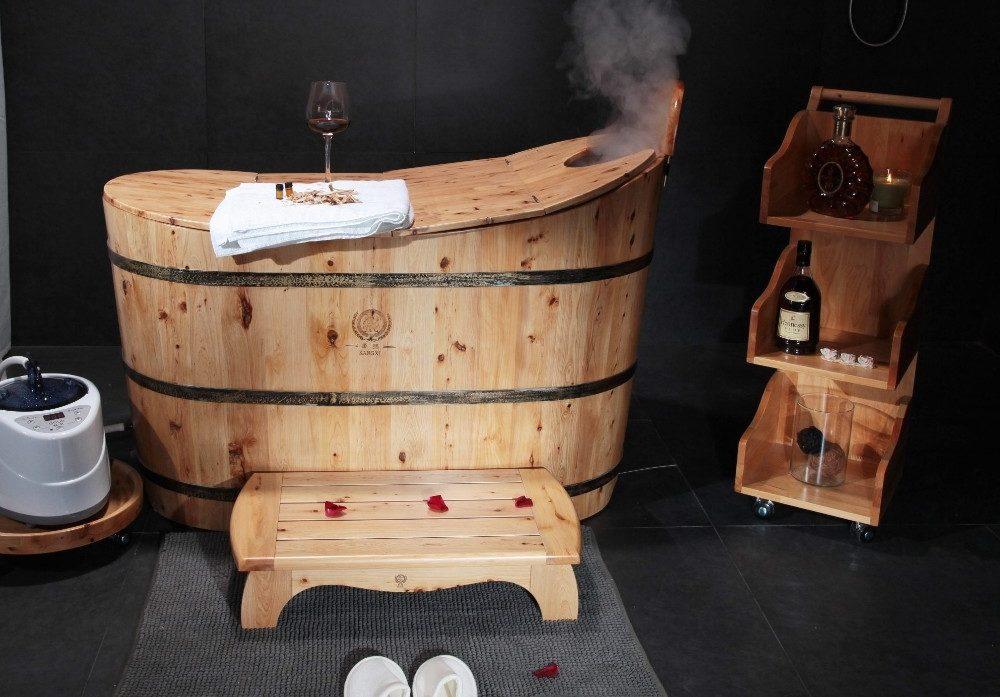 Bồn tắm gỗ xông hơi gia đình