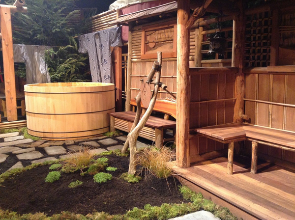 Bồn tắm gỗ Ofuro của người Nhật