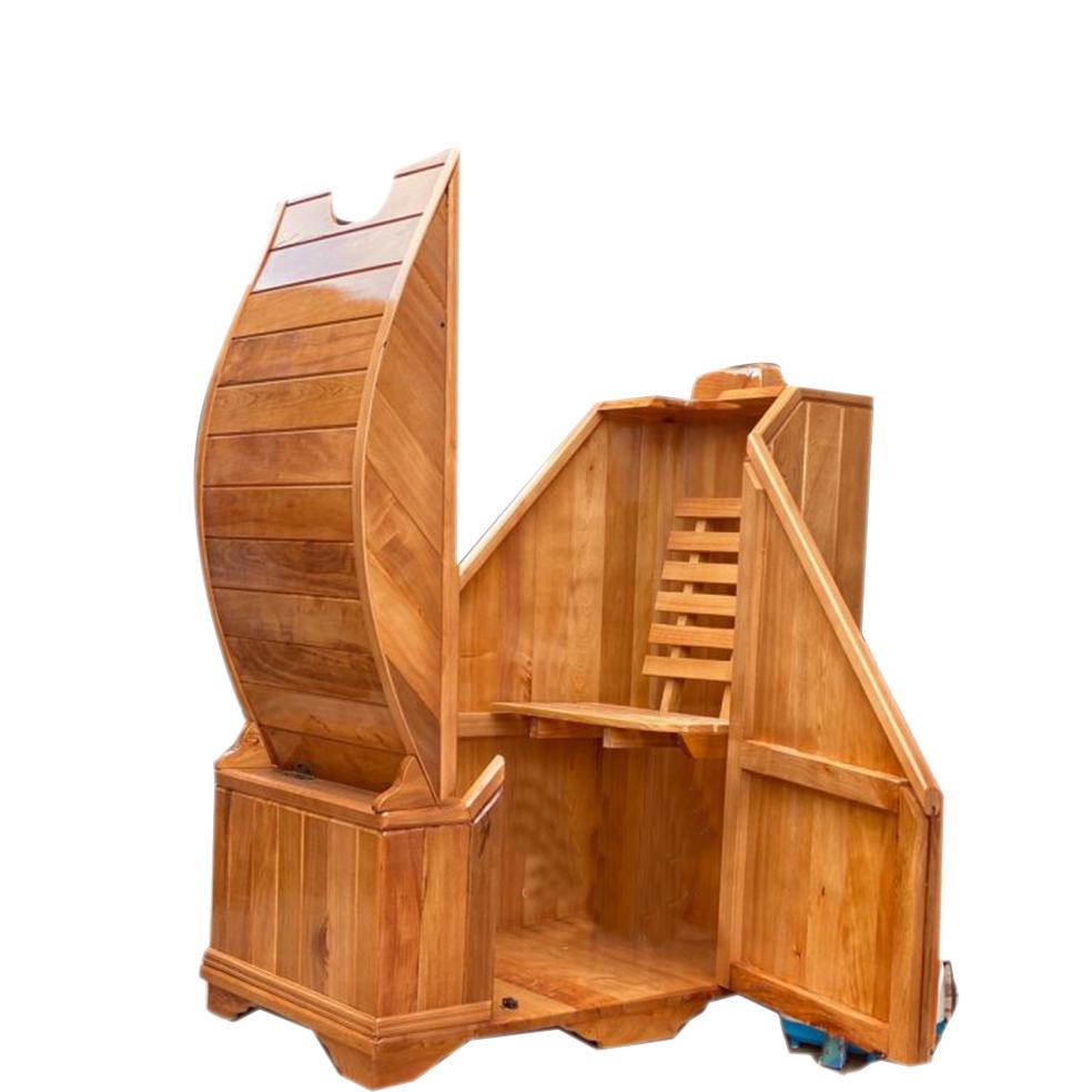Cabin xông hơi mini bằng gỗ