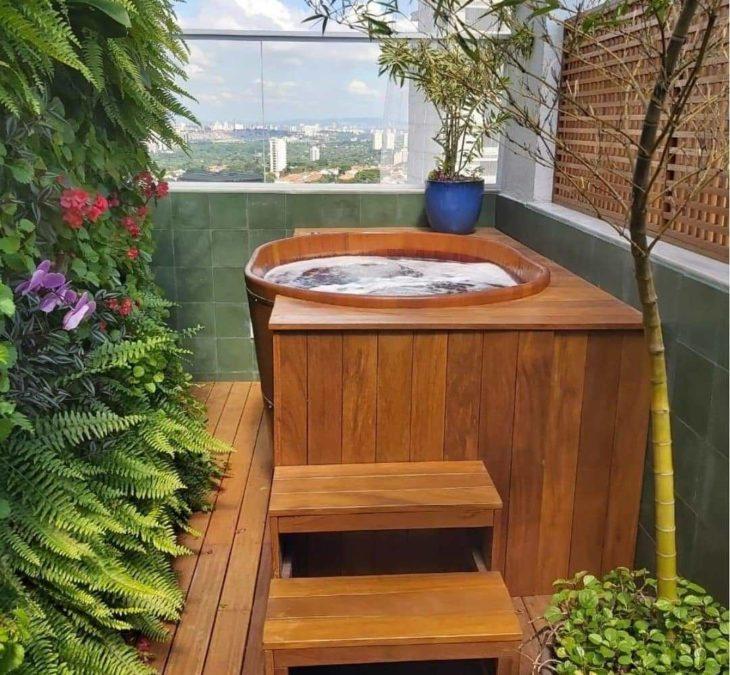Bồn tắm gỗ tròn cao cấp