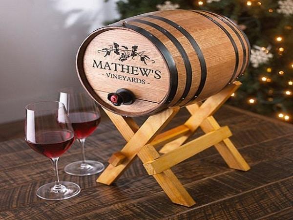 ngâm rượu trong thùng gỗ sồi