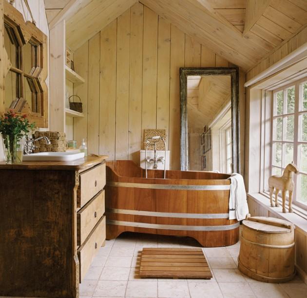 Bồn tắm ngồi bằng gỗ