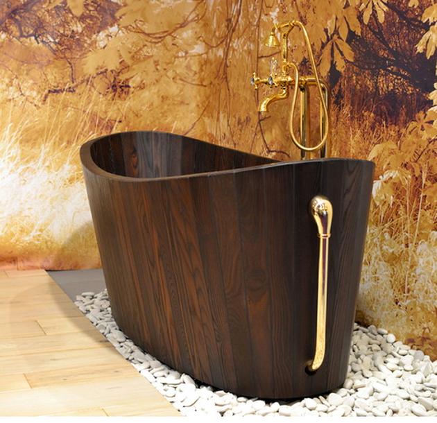 Bồn tắm gỗ đứng