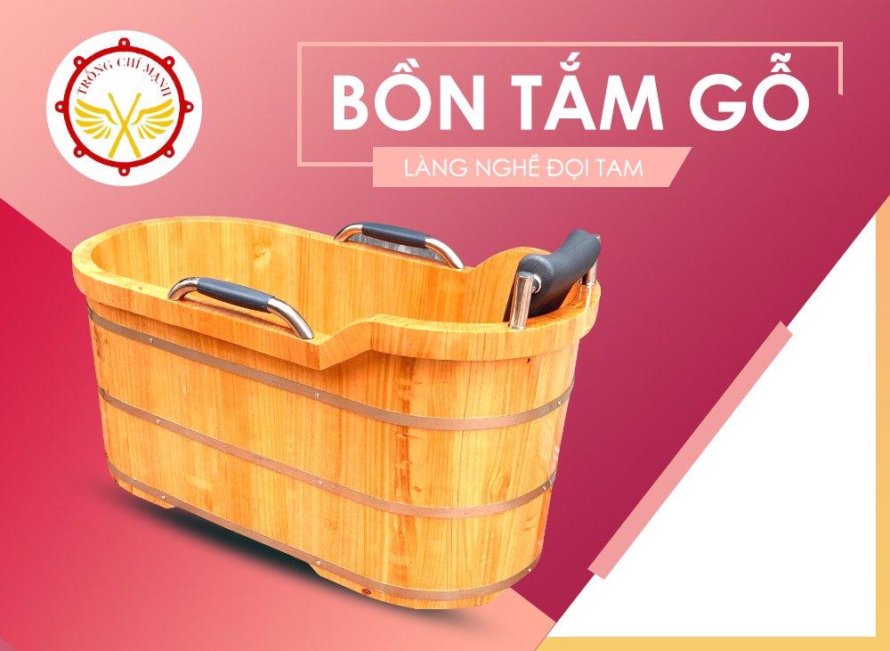 Bồn tắm gỗ oval | Bồn tắm gỗ Chí Mạnh