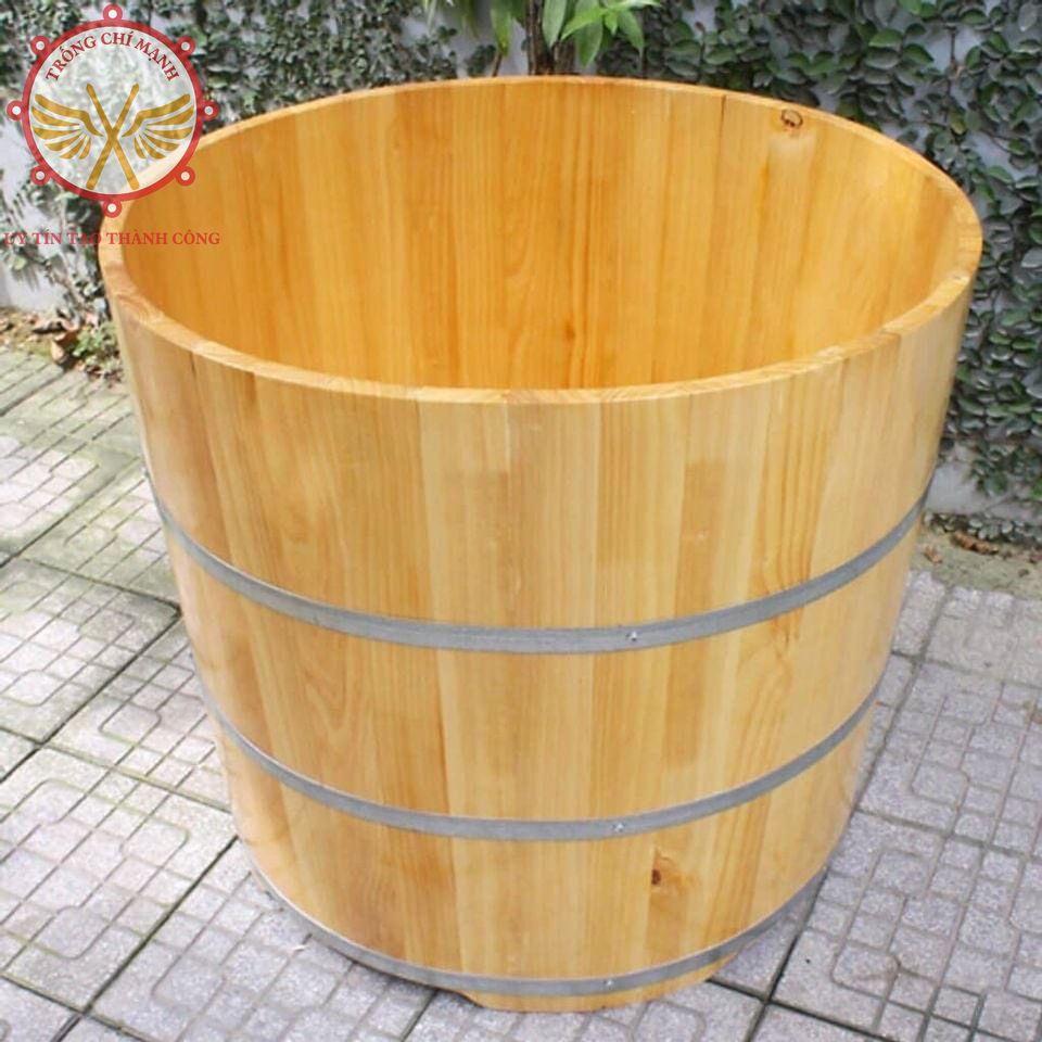 Bồn tắm gỗ Pơmu tròn Spa, Resort, Khách sạn cao cấp BTG09   Bồn tắm gỗ Chí Mạnh