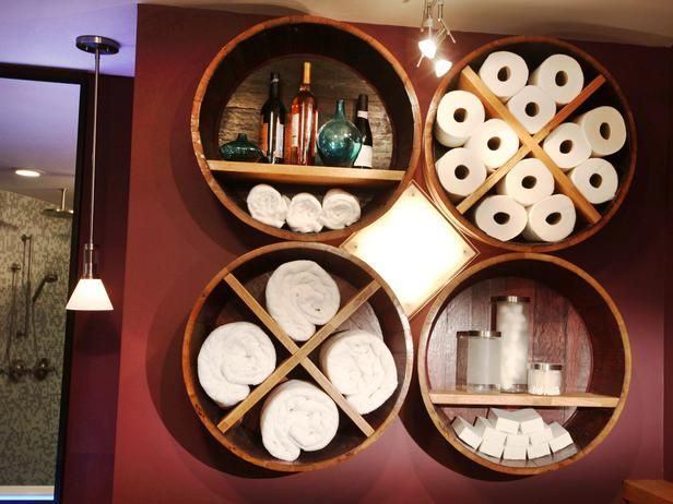 Tái chế thùng rượu gỗ sồi cũ thành đồ nội thất phòng tắm