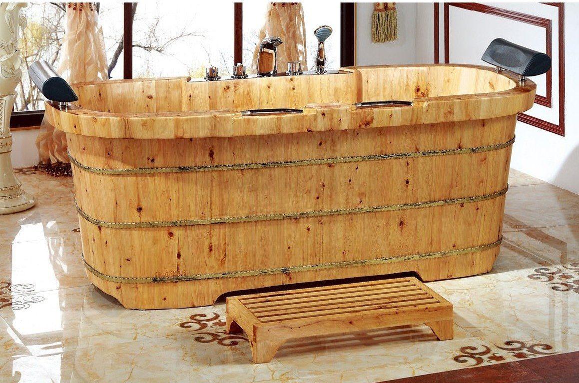 thư giãn với bồn tắm gỗ nằm cho gia đình nâng cao sức khỏe mùa dịch