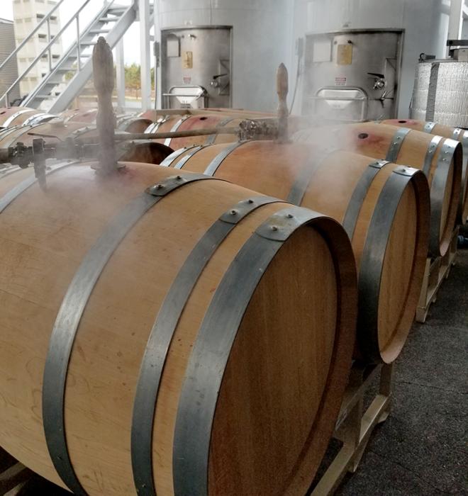 hấp thùng rượu gỗ sồi