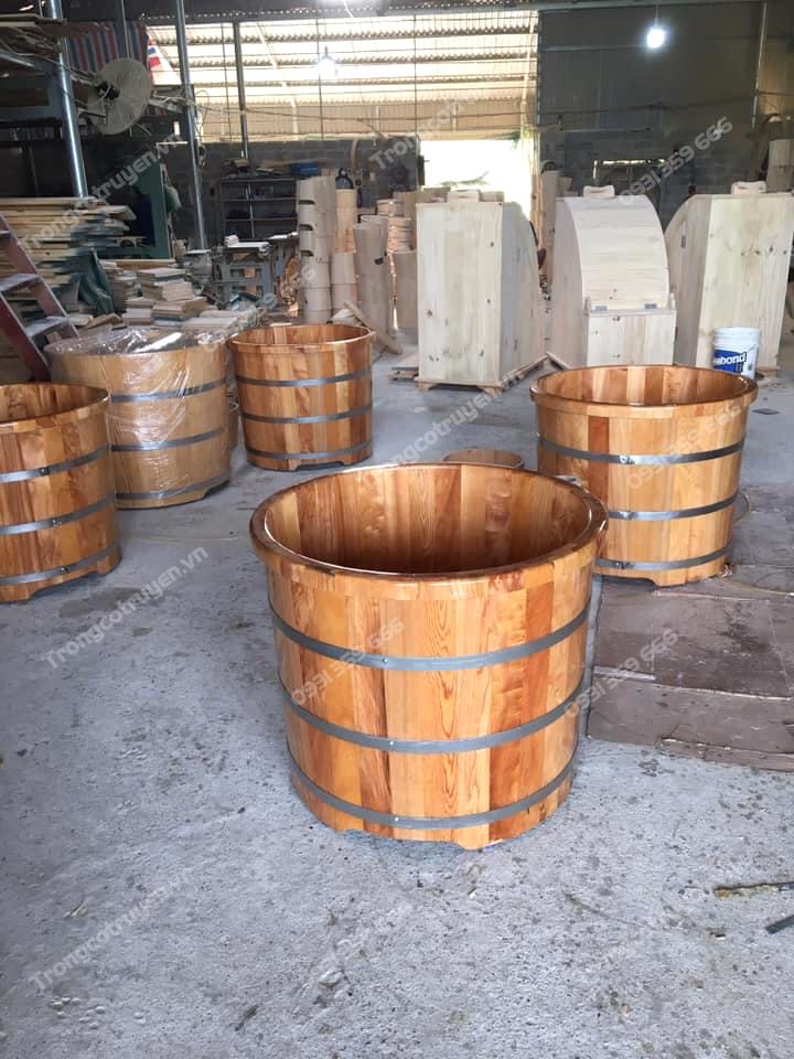 Bồn tắm gỗ Pơ mu được người Hà Nội ưa chuộng nhất