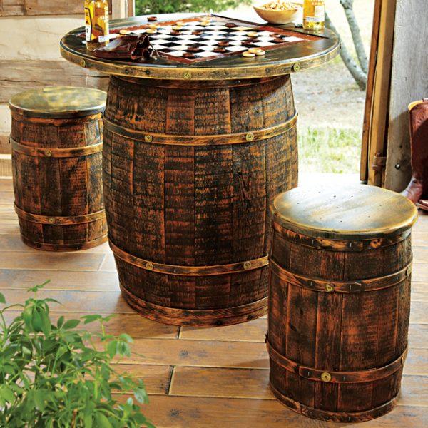 Bàn cờ thùng rượu gỗ sồi