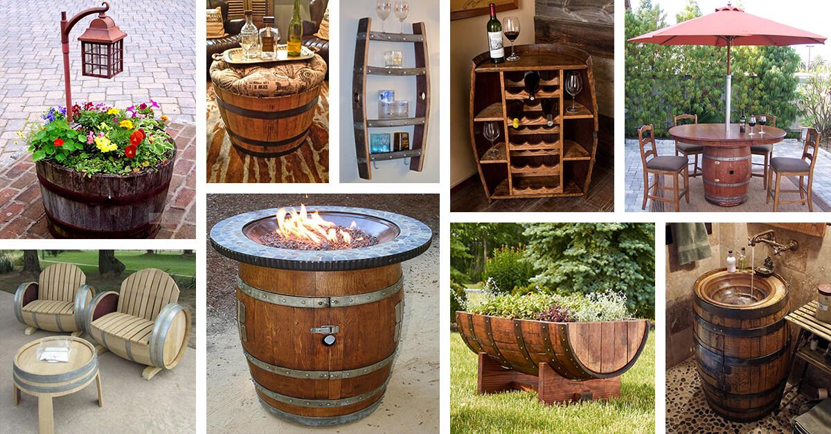 Tái sử dụng thùng rượu gỗ sồi cũ