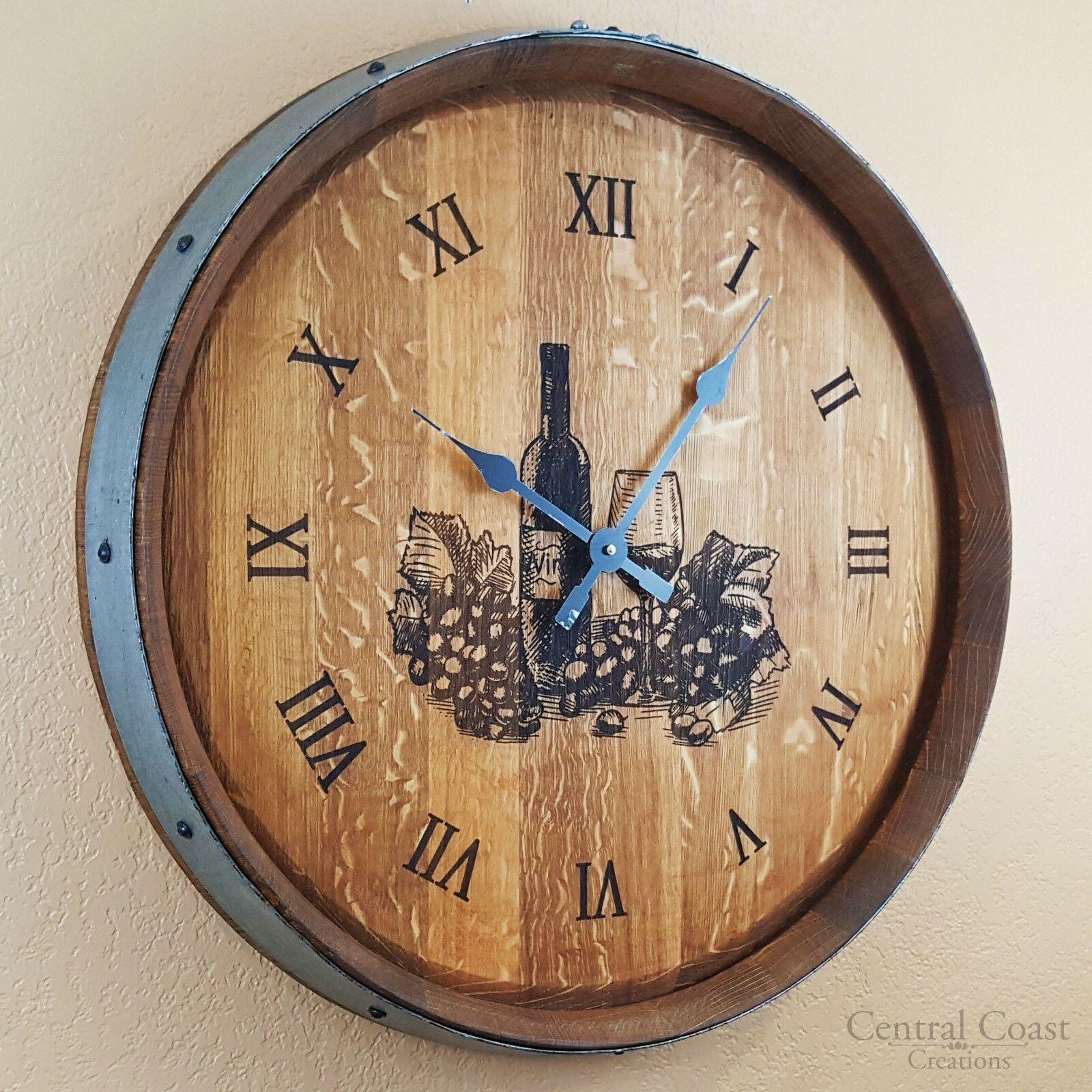 đồng hồ thùng rượu gỗ sồi