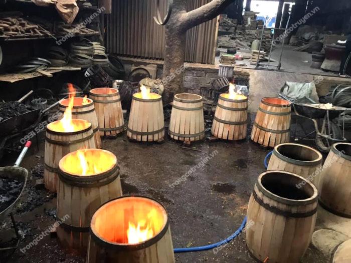 quy trình sản xuất thùng rượu gỗ sồi | Trống Chí mạnh