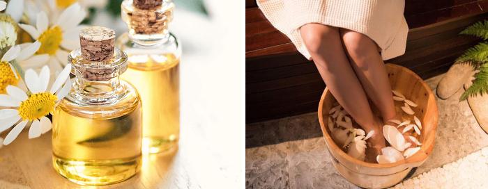 Chữa yếu sinh lý hiệu quả nhờ ngâm chân bằng chậu gỗ với tinh dầu hoa cúc