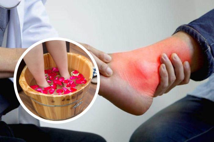 Ngâm chân chậu gỗ quên nỗi lo viêm khớp ở người cao tuổi