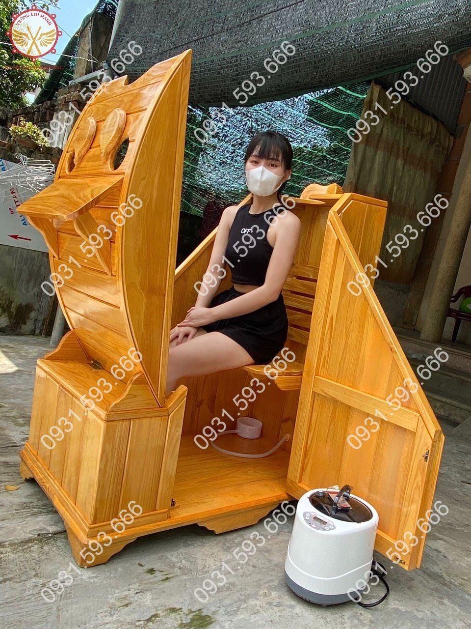 Cabin buồng gỗ xông hơi Trống Chí Mạnh
