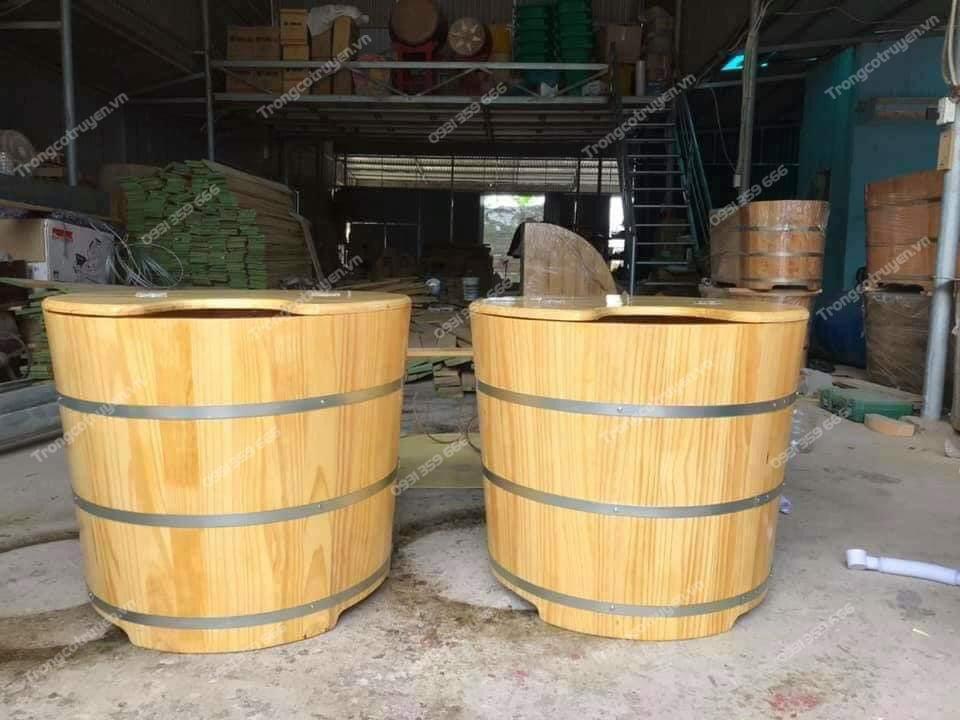 xưởng gia công bồn tắm gỗ Trống Cổ Truyền Chí Mạnh